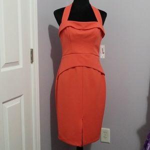 Make an Offer NWT Flirty halter style peach dress